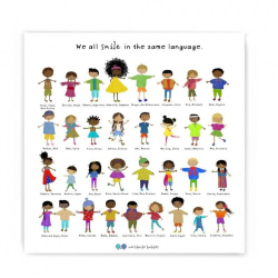 We All Smile In The Same Language | Multicultural Poster | Posters for Kids | Diversity and Inclusion | Homeschool or Classroom Decoration | Language Learning Market