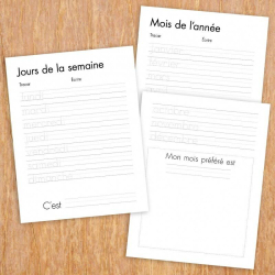 French Days and Months Tracing Sheets | Printable | French Worksheets for Kids | Handwriting Practice | Language Learning Market