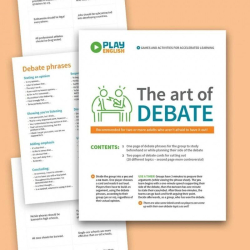 Debate Game   Practice English Vocabulary   Printable ESL Activity   Learn English Fluency   Language Learning Market
