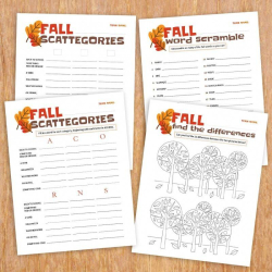 Fall Activity Bundle | Educational Activities for Kids | Fall Printable Games | Scattergories | Coloring Sheets | Practice English Vocabulary | Language Learning Market