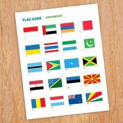 Flag Game - Advanced Version | Printable Flag Activity | English Language Activity | Geography Activity | Language Learning Market