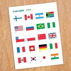 Kids Flag Game | Printable Flag Activity | English Language Activity | Geography Activity for Kids | Language Learning Market