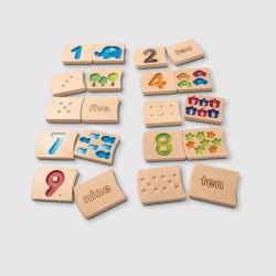 Number 1-10 (Gradient) | Educational Wooden Toys | Learning Numbers | Early Learning | Learn English Numbers | Language Learning Market