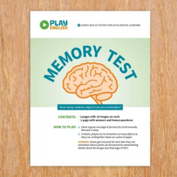 Printable Memory Game | Concentration Game | Memory Test | Vocabulary Memory Games | English Vocabulary | Language Learning Market