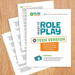 Role Playing Game - Teen Version   Printable Card Game   ESL Activity for Teens   Practice English Vocabulary   Discussion Ideas   Language Learning Market