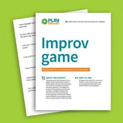 Improv Game   Practice English Vocabulary   ESL Printable Game   Kids Card Game   English Language Learning   Language Learning Market