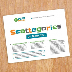 French Scattegories Game for Kids and Adults | Printable Vocabulary Game | Family Game | Practice French Vocabulary | French Class Game | Language Learning Market