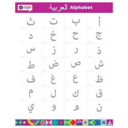 "ARABIC Alphabet Poster | العربية | Alif Ba Ta | Learn Arabic Letters | Printable | Educational | Preschool | Homeschool or Classroom Wall Decoration | 16"" x 20"" | 8.5"" x 11"""