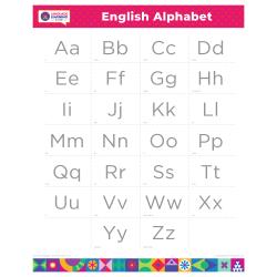 "ENGLISH Alphabet Poster | Learn English Letters | Teach ABCs | Printable | Preschool | Educational | Homeschool or Classroom Decoration | ESL |16"" x 20"" | 8.5"" x 11"""