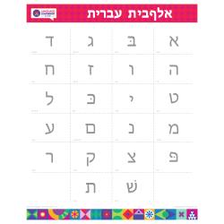 "HEBREW Alphabet Poster | עִברִית | Learn Hebrew Letters | Hebrew Characters | Printable | Preschool | Educational | Homeschool or Classroom Decoration | 16"" x 20"" | 8.5"" x 11"""