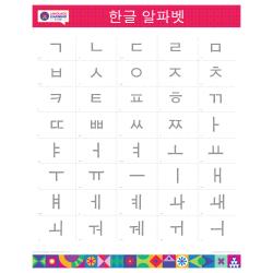 "KOREAN Alphabet Poster | 한국어 | Learn Korean Characters | Printable | Preschool | Educational | Homeschool or Classroom Decoration | 16"" x 20"" | 8.5"" x 11"""