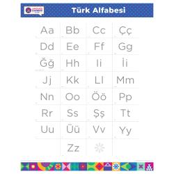 "TURKISH Alphabet Poster | Türkçe | Learn Turkish Letters | Turkish ABCS | Printable | Preschool | Educational | Homeschool or Classroom Decoration | 16"" x 20"" | 8.5"" x 11"""
