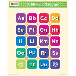 "Gaeilge IRISH Alphabet Poster | Learn Irish | Gaeilge Letters | Irish ABCs | Printable | Preschool | Colorful | Homeschool or Classroom Decoration | 16"" x 20"" | 8.5"" x 11"""