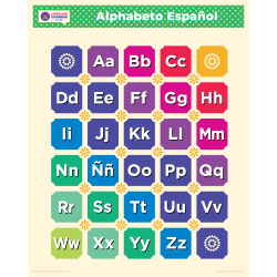 "Español SPANISH Alphabet Poster | Learn Spanish Letters | Spanish ABCs | Printable Art Poster | Colorful  | Homeschool or Classroom Decoration | 16"" x 20"" | 8.5"" x 11"""