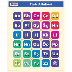 "Türkçe TURKISH Alphabet Poster | Learn Turkish Letters | Turkish ABCS | Printable Art Poster | Colorful | Homeschool or Classroom Decoration | 16"" x 20"" | 8.5"" x 11"""