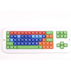Clevy Kids Keyboard | English Keyboard | Large Keys Kids Keyboard | Kids Keyboarding | SpillProof | SPED | Teach Kids Typing | LOWER Case Letters