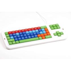 Swedish Keyboard | Clevy Kids Swedish Computer Keyboard | International Keyboards Large Keys | Uppercase letters | Kids Keyboarding | Teach Kids Typing