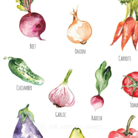 Vegetables | Downloadable Prints | Watercolor | Montessori Educational Poster for Kids | Children Room | Learning Painting | Food | Kitchen | Botanical Veggies | EnglishVegetables | Downloadable Prints | Watercolor | Montessori Educational Poster for Kids | Children Room | Learning Painting | Food | Kitchen | Botanical Veggies | English