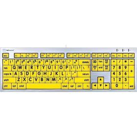 Logickeyboard Largeprint   Black on Yellow Keyboard   Mac Alba   English Keyboard   Computer Keyboard   Typing   LKBU-LPRNTBY-CWMU-US
