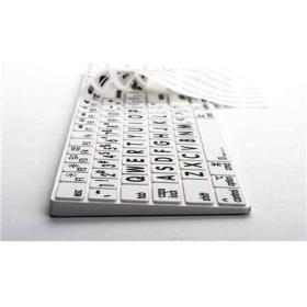 Logickeyboard XLPrint - LogicSkin Keyboard Cover   Black on White   Compatible with Apple Magic   Silicone Keyboard Cover   Computer Keyboard Accessories   LS-LPRNTBW-MGFS-US
