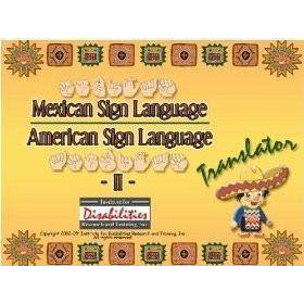 MSL Mexican Sign Language - ASL American Sign Language Translator Dictionary   Windows Only   Accessible Product   Special Education    Physical CD Format