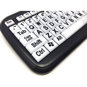 EZSee Large Print Computer Keyboard | White Keys | Low Vision | International Keyboards Large Keys | English Keyboard | Uppercase letters | Computer Keyboard | Typing