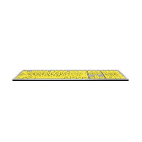 LargePrint Black on Yellow - PC Slim Line Keyboard | Windows | International Keyboards Large Keys | English Keyboard | Uppercase letters | Computer Keyboard | Typing