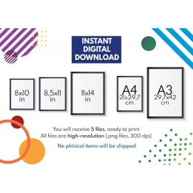 METRIC UNITS POSTER | Educational poster | Math | Rainbow colors | Classroom Wall Art Poster | Printable | Digital Download