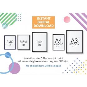 PARTS OF SPEECH    Grammar Chart for Homeschool    Classroom Poster    Educational poster    printable    digital download