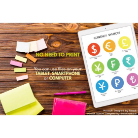 CURRENCY SYMBOLS of the world   Currency Chart Poster   Educational Posters   Money poster   Math Rules   Classroom Decor   Digital download