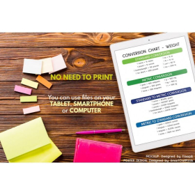 WEIGTH CONVERSION CHART | Educational poster | Math | Rainbow colors | Classroom Wall Art Poster | Printable | Digital Download