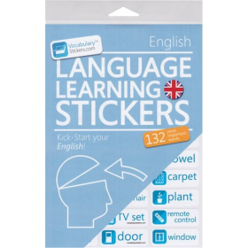 English Language Learning Stickers | English Stickers | Language Learning Stickers | Spanish words | Stickers for Home or Office | English