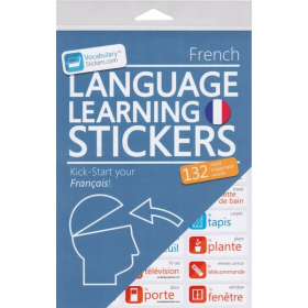French Language Learning Stickers   French - Français Stickers   Language Learning Stickers   French words   Stickers for Home or Office   French - Français
