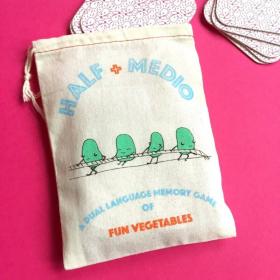 Half + Medio: Veggies   A Dual Language Memory Card Game   Language Learning Games   Spanish Vocabulary   Veggies - Vegetales   Spanish Español Game   Language Learning Market