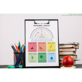 MEASURING ANGLES | How to use a PROTRACTOR | Geometry | Educational poster | Math | Classroom Wall Art Poster | Printable | Digital download