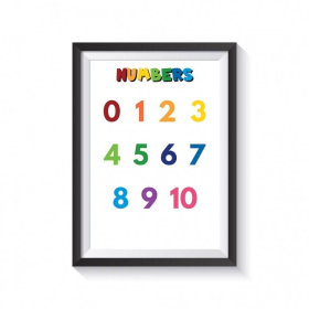 NUMBERS for kids | Educational poster | Preschool learning | Learn NUMBERS | Montessori | Classroom Poster | Printable | Print | Digital download | Smart Owl Prints