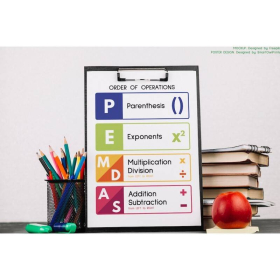 PEMDAS POSTER   Learn Order of Operations   Printable Educational Posters   Math Rules   Math Teacher Gift   Classroom Decor Poster   Digital download