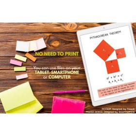 PYTHAGORAS THEOREM | Educational poster | Classroom Wall Art | Classroom Decor Math | Teacher Gift Pythagoras | Printable Digital Download