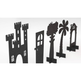 Papaton Shadow Theater Playset   Family Game   Puppet Theater with Shadow   Puppets for Kids   Create a Magical Shadow Puppet Show   Fairy Tale Puppets   English