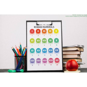 ROMAN NUMERALS poster | Roman Numbers | Educational poster | Math | Rainbow colors | Classroom Wall Art Poster | Printable | Digital download