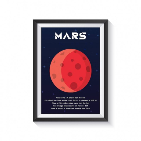 SOLAR SYSTEM planets posters | 9 Set Posters digital download | All planets and SUN | Printable | Wall Art | Astronomy | Space Themed Nursery | Smart Owl Prints | English