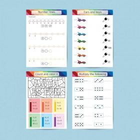 Workbook - Multiplication 1 to 12 | Grade 1-2 | Math | School | 46 pages | 44 Worksheets | Educational | Rainbow colors | Printable | Digital download | Smart Owl Prints