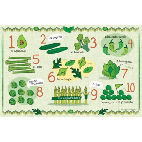 Spanish Vegetables and Numbers | Digital Download Placemat | Eductional Material | Printable | Montessori Learning Resource | Toddler Education | Language Learning Market