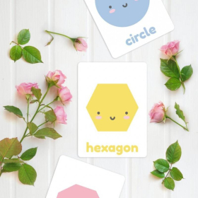 Shapes Flashcards Pastel Colours | Printable | Learn Colours | Instant Download | Shapes and Colours | Toddler Education | Colour Palette | Montessori Learning Resource