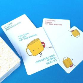 Spoons Con Cucharas | Juego de Cartas | Language Learning Games | Dual Language Cards | Vocabulario en Ingles | Spanish Español Fun Game | Language Learning Market