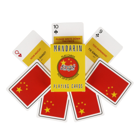 Learn Mandarin Chinese Playing Cards   Original Paper Packing   Bilingual English - Chinese Phrases   中文 Chinese Flag   Game Set   Useful Chinese Travel Phrases   Language Learning Market