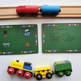 French Flashcards - Trains   Bilingual Education   Language Learning Flashcards   Teach Kids French   Homeschool Resources   Bilingual French - English Flashcards
