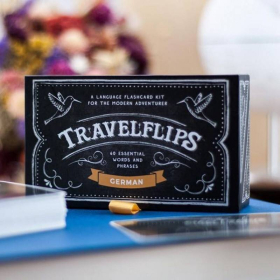 German Flashcards - Travelflips | Bilingual Cards | Language Learning Flashcard Kit | Basic German for Beginners | Learn German Vocabulary | German Deutsch  - English | Language Learning Market