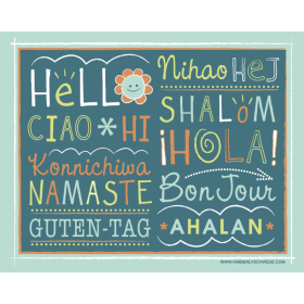 Hello Around the World Poster   Classroom Decor   Instant Download   Printable Wall Art   Educational Material   Multi-Language Poster   Language Learning Market