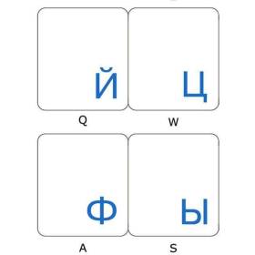 Russian Keyboard Stickers   Cyrillic Pусский   Russian  Language Keyboard Stickers   WHITE or BLUE Letters   Transparent Keyboard Stickers Labels